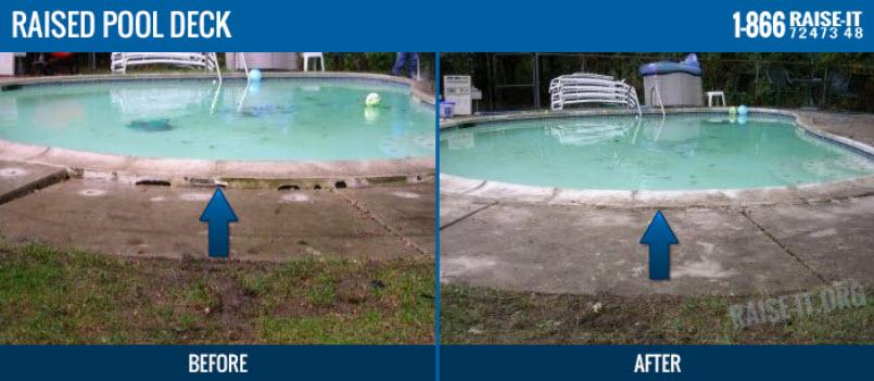 Michigan Pool Deck Lifting