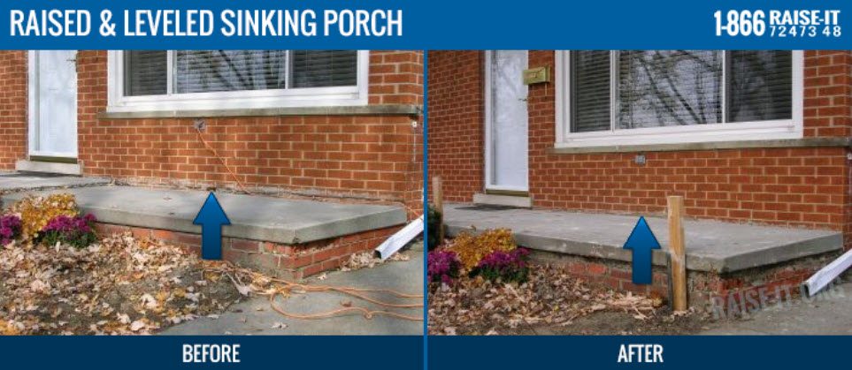 Michigan Porch Mudjacking Service